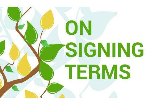 On Signing Terms apk screenshot