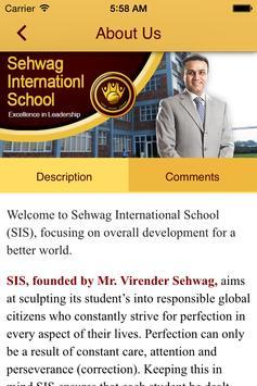 Sehwag International School apk screenshot