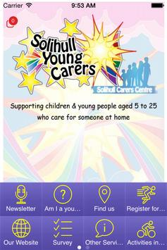 Solihull Young Carers poster