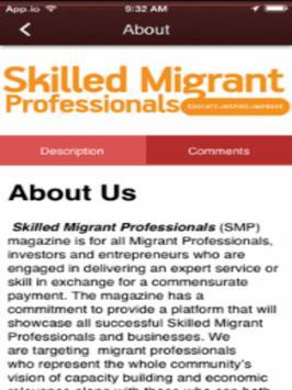 Skilled Migrant Professionals apk screenshot