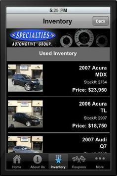 Specialties Auto apk screenshot