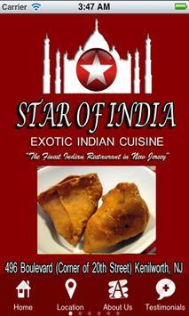 Star of India Restaurant poster