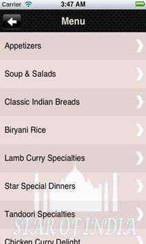 Star of India Restaurant apk screenshot