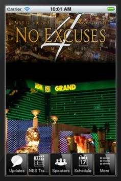 No Excuses Summit poster