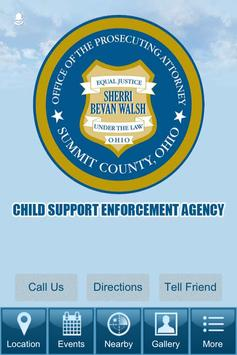 Summit County OH Child Support poster