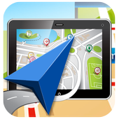 GPS Route and location icon