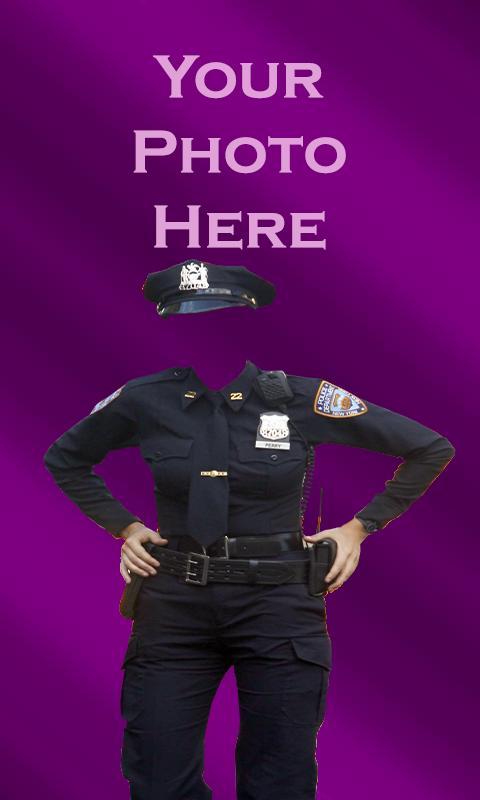 police dress frame download
