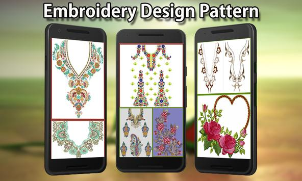 Embroidery Design Pattern poster