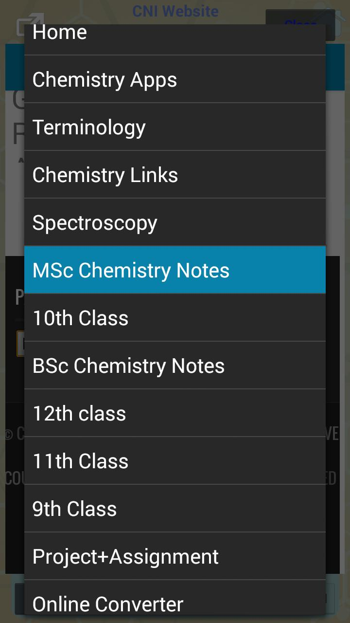 Chem - 9, 10, 11, 12, BSc, MSc for Android - APK Download