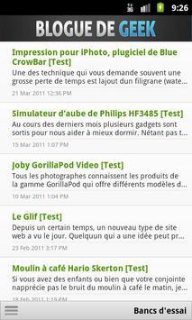 Blogue de Geek Mobile apk screenshot