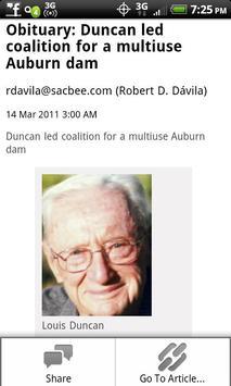 Obituary apk screenshot