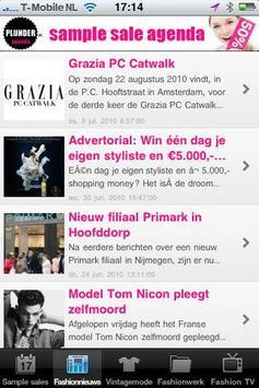 Sample sales screenshot 1