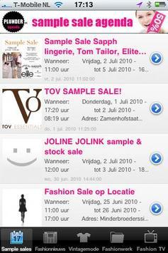 Sample sales screenshot 2