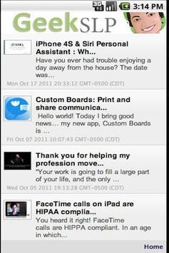 GeekSLP for Android apk screenshot
