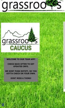 Grassroots Caucus poster