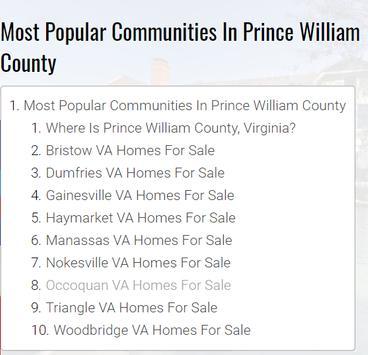 Northern Virginia Homes For Sale By Neighborhood screenshot 3