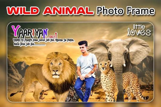 Wild Animal Photo Editor : Animal Frame, Sticker screenshot 1