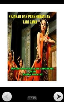 SEJARAH TARI JAWA poster