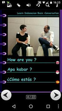 Learn Indonesian Spanish apk screenshot