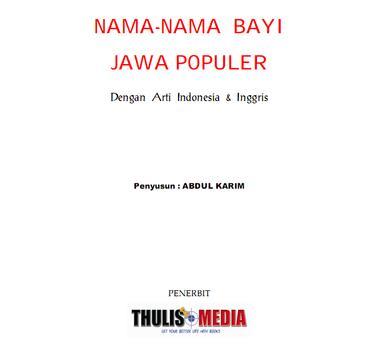 NAMA-NAMA BAYI JAWA POPULER screenshot 1
