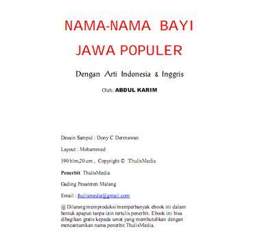 NAMA-NAMA BAYI JAWA POPULER screenshot 2