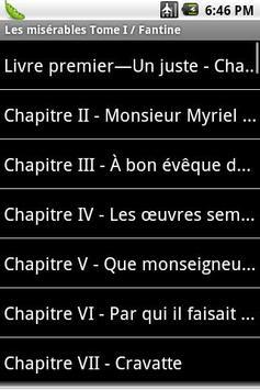 Les misérables Tome I/Fantine apk screenshot