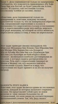 40 Хадисов Имама Ан-Навави apk screenshot