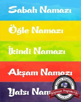 Namaz Tesbihatı poster