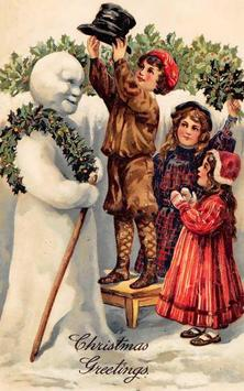 Winter Holidays Vintage Free poster