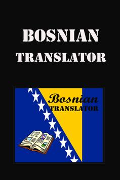 Bosnian English Translate poster
