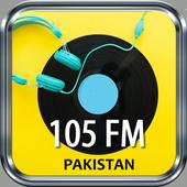 Fm 105 Pakistan Free Internet Radio App Recorder icon