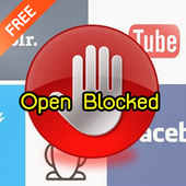Top Open Blocked icon