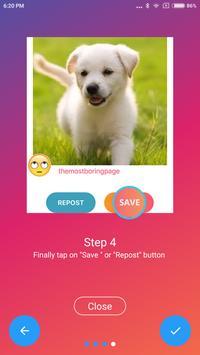 Repostgram - Repost/Save Instagram photos & videos apk screenshot