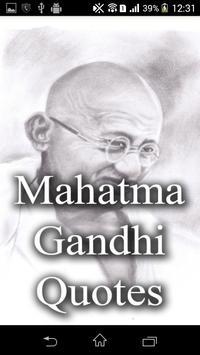 Mahatama Gandhi Quotes poster