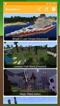 Addons (Mods , Skins , Maps) for MCPE poster