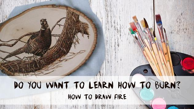 How to draw fire poster