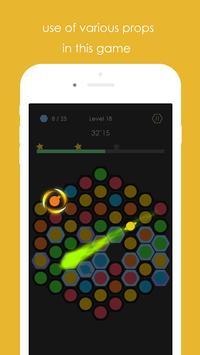 Hexa Pop Dot - color match screenshot 1