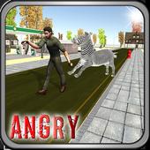 Angry Zebra City Attack icon