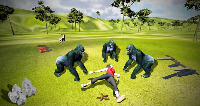 Angry Gorilla Escape Simulator apk screenshot