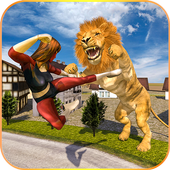 Angry Lion City Attack 3D icon
