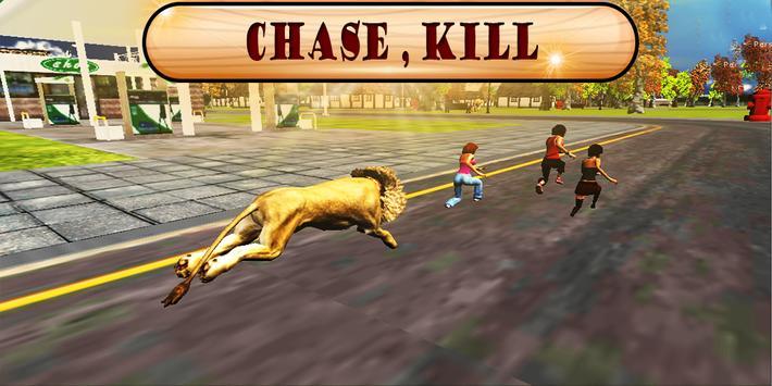 Angry Lion City Attack 3D apk screenshot