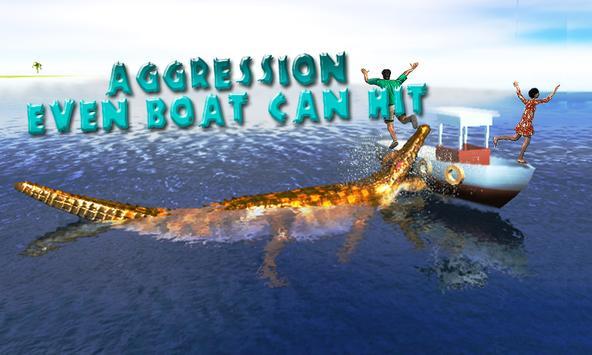 Angry Alligator simultaor city attack poster