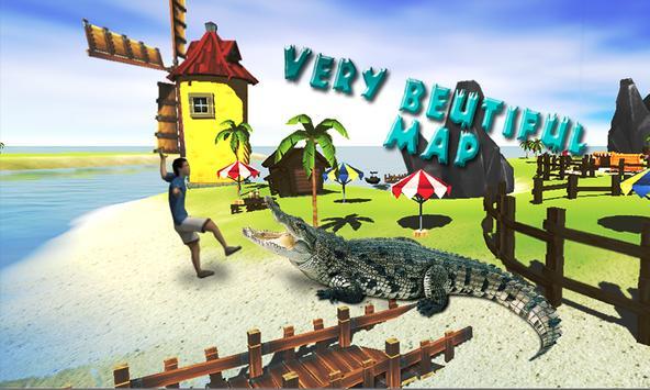 Angry Alligator simultaor city attack apk screenshot