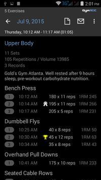 GymACE: Workout Log apk screenshot