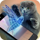 Cat: game with bird icon