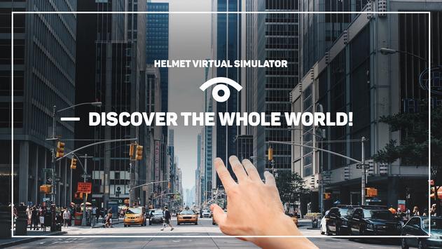 Helmet virtual simulator poster