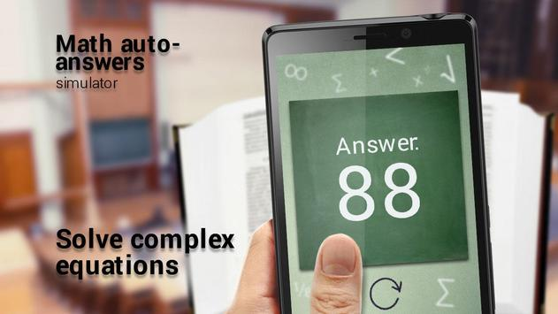 Math auto-answers simulator apk screenshot