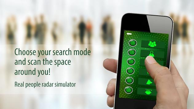 Real people radar simulator apk screenshot