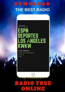 ESPN Deportes Radio Los Angeles online free App poster