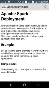 Learn Apache Spark apk screenshot